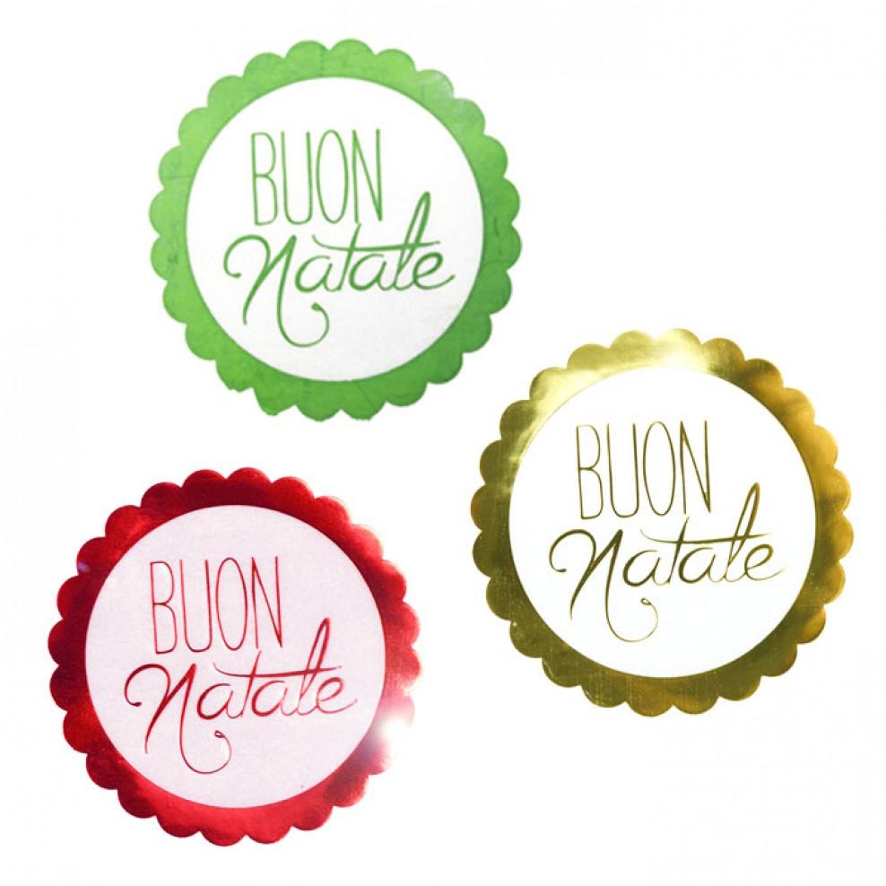 Etichette Natalizie Da Stampare etichetta natalizia tonda stampa buon natale rosso