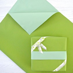 Carta Regalo Bicolore Greenery e Verde Salvia