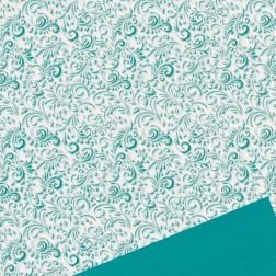 Carta Regalo Natalizia Damascato Smeraldo