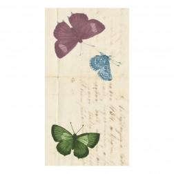 Etichetta Chiudibusta Adesivo Rettangolare Stampa Farfalle