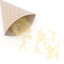 Conetti per riso e finger food kraft avana pois