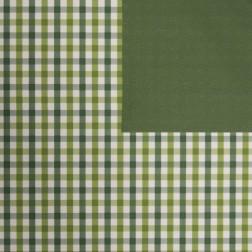 Carta Regalo a Quadretti Verde - Confezione da 20 fogli