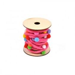 Nastro corda con Pon Pon colorati