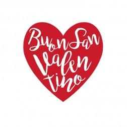 Etichette adesive a forma di cuore Buon San Valentino