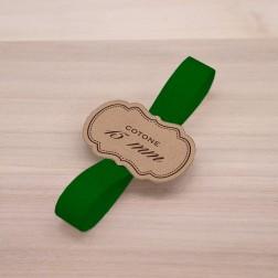 Nastro Fettuccia di Cotone 15mm Verde Scuro - confezione da 50 metri