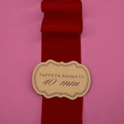 Nastro Taffetà Animato 40mm Rosso Bordeaux - confezione da 25 metri