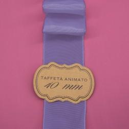 Nastro Taffetà Animato 40mm Lilla - confezione da 25 metri