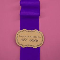 Nastro Taffetà Animato 40mm Viola - confezione da 25 metri