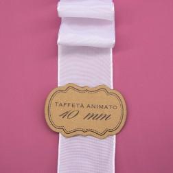 Nastro Taffetà Animato 40mm Bianco - confezione da 25 metri