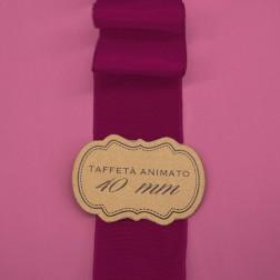 Nastro Taffetà Animato 40mm Prugna - confezione da 25 metri