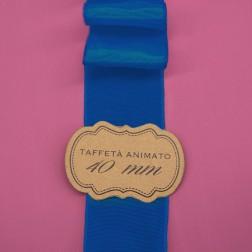 Nastro Taffetà Animato 40mm Blu - confezione da 25 metri