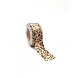 Nastro policotone stampa animalier leopardo