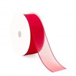 Nastro di Organza 40mm Rosso - confezione da 50 metri