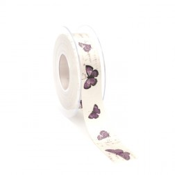 Nastro di Raso Farfalle Viola