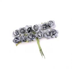 Roselline decorative di carta grigio cenere