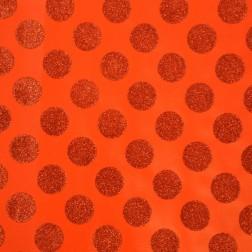 Carta Regalo Rossa Pois con Brillantini - Rotolo da 1m