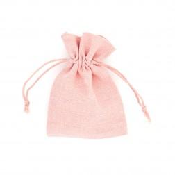 Sacchetti di lino colorati con coulisse