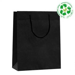 Shopper Carta Riciclata Nera - Manico di Corda