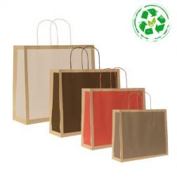 Shopper Ecologica Carta Riciclata Avana Riquadro