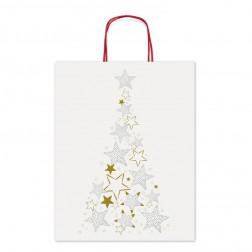 Shopper Natalizia Albero di Natale Stellato