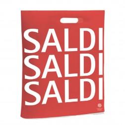 Shopper plastica scritta saldi - Confezione da 100pz