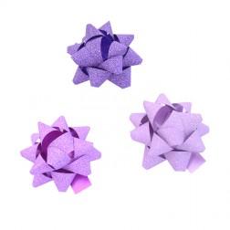Stelle Adesive Glitterate Viola